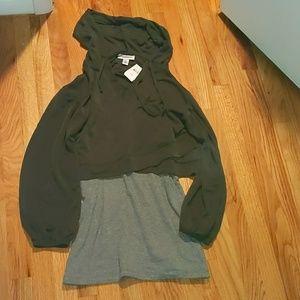 Motherhood Maternity Sweaters - Motherhood maternity nursing sweatshirt and tank